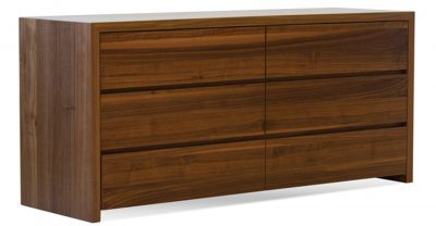 6 drawer walnut dresser