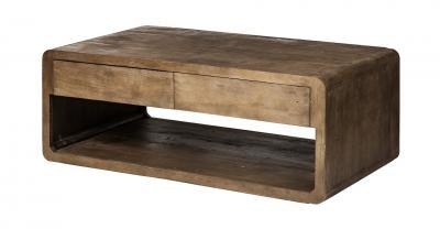 brown wood coffee table