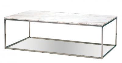 white marble rectangular coffee table