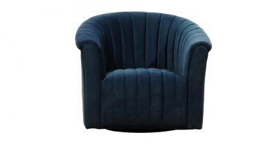 channel tufted swivel chair
