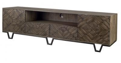 wood media console