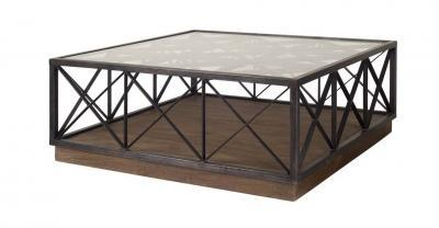 metal wood coffee table
