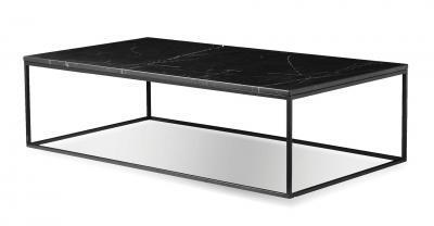 black marble rectangular coffee table