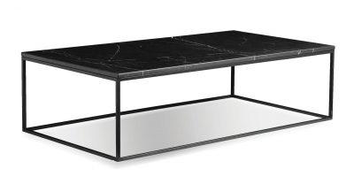 black marble rectangular coffee table