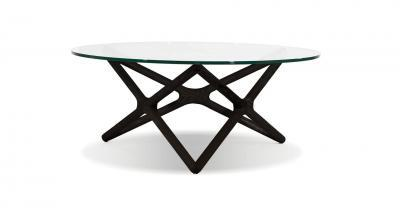 wood glass espresso coffee table