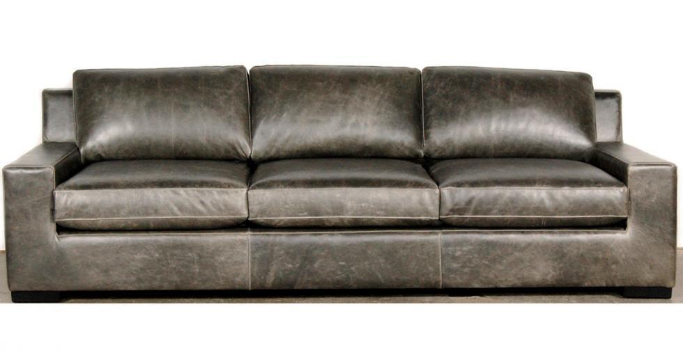 Grey Axel Leather Sofa