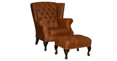Brown Tufted Leather Chair