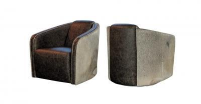 Bomber Leather Swivel Chair
