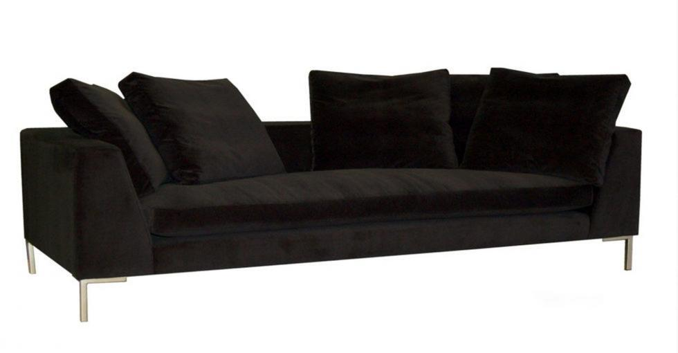 Black Bugatti Fabric Sofa