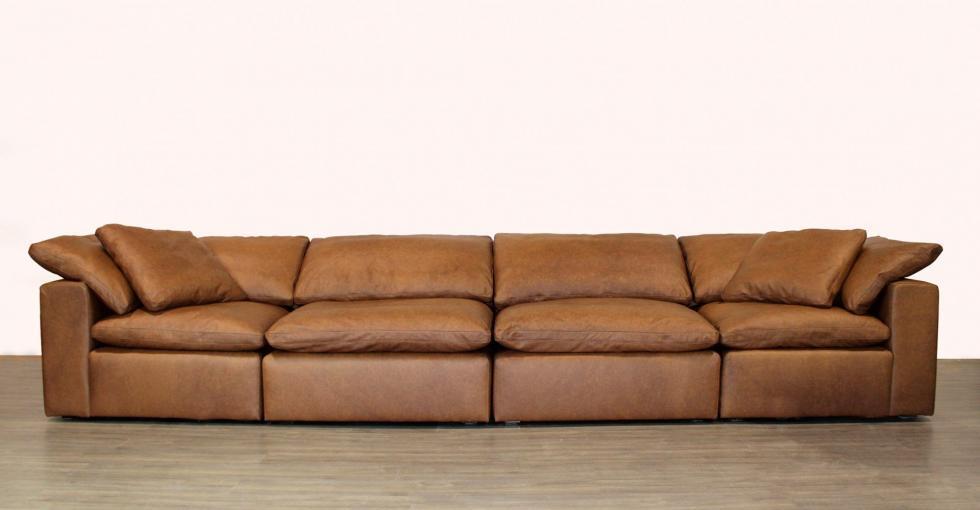 leather 4 seater modular sofa