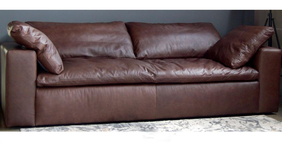 Brown Cloud Leather Sofa