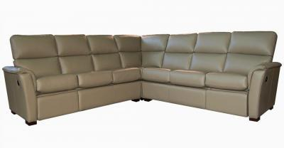 Connie Leather Recliner Sectional