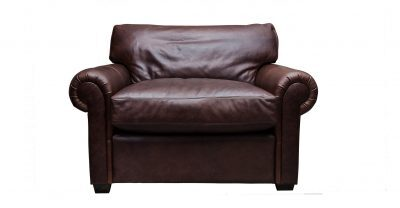 Brown Oversize Leather Chair