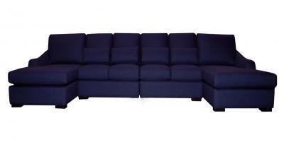 Purple Fabric Sectional