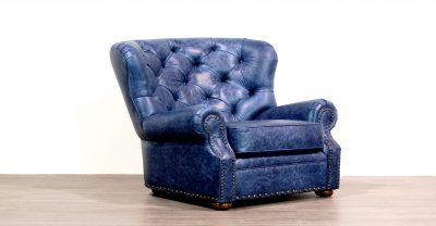 back tufted leatherchair