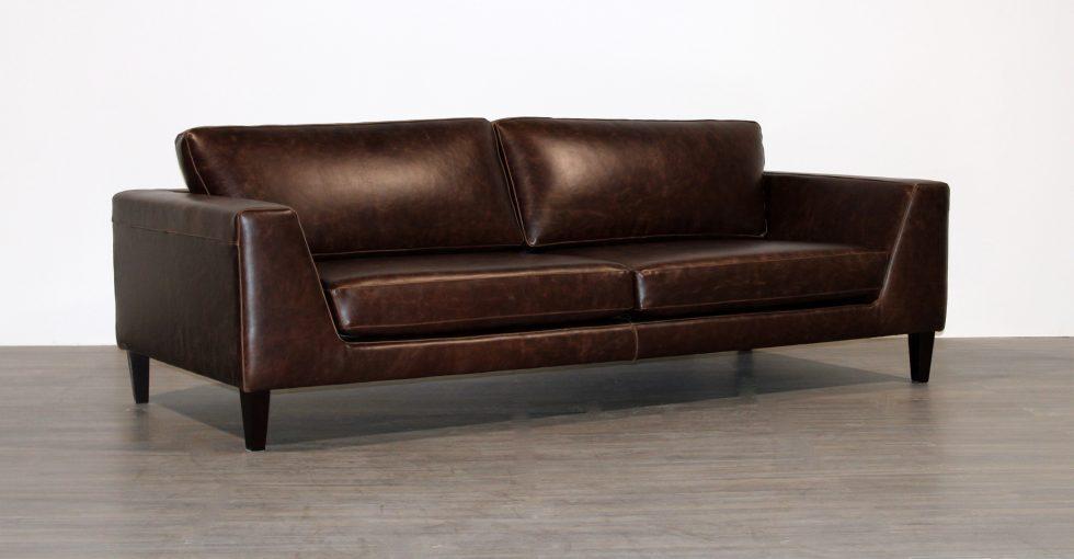 Brown Italia Leather Sofa