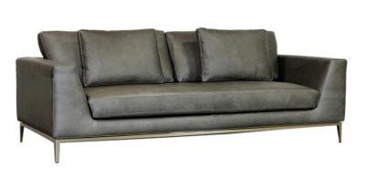 Grey Italia Leather Sofa