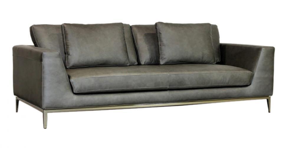 Grey Italia Leather Sofa