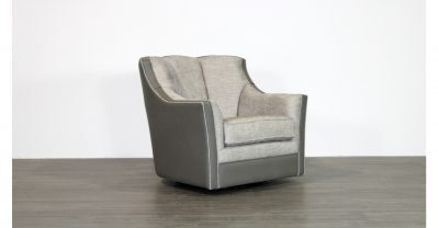 Leather Fabric Swivel Chair