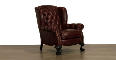 leather tufted back chair