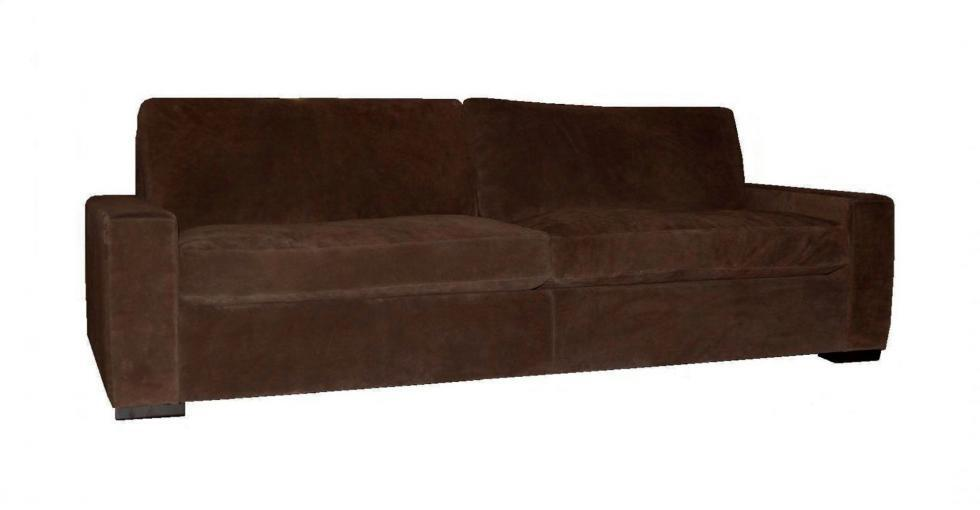 Manhattan Suede Leather Sofa