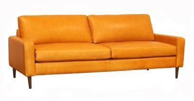 Yellow Marlo Leather Sofa