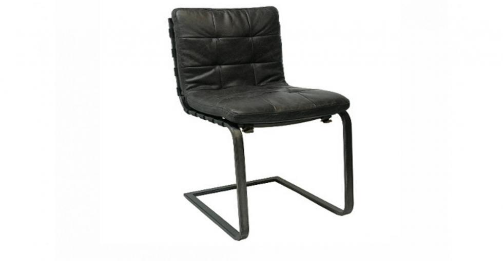 leather metal dining chair