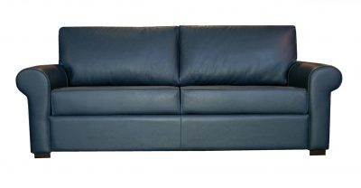 Blue Paris Leather Sleeper Sofa