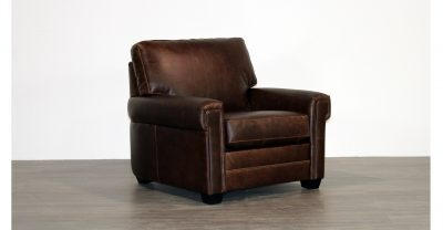 brwon leather chair
