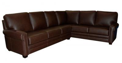 Brown Leather Sectional
