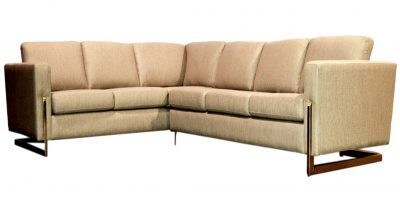 Fabric And Brass Sectional