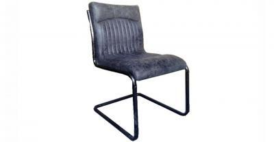 slate leather dining chair