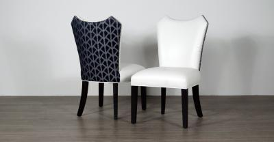 leather fabric dining chair
