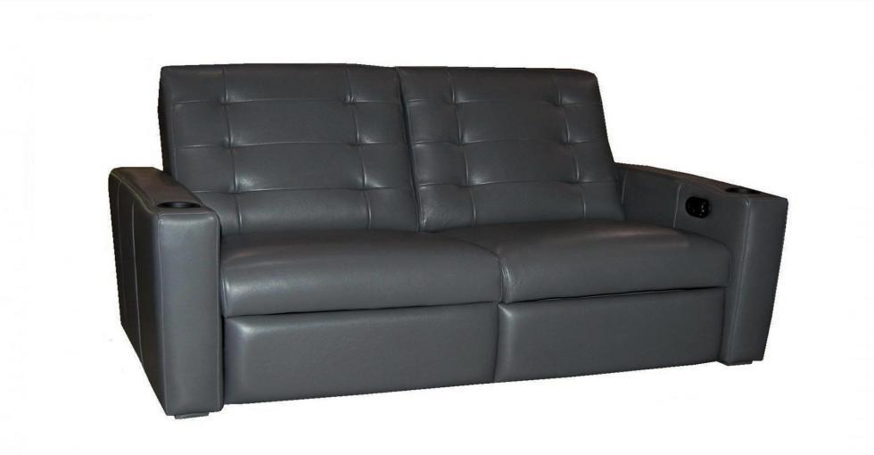 Grey Leather Condo Theatre Seating