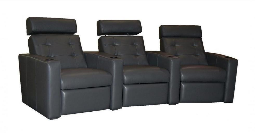 Leather Headrest Theatre Seating