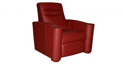 Red Leather Single Theatre Seating