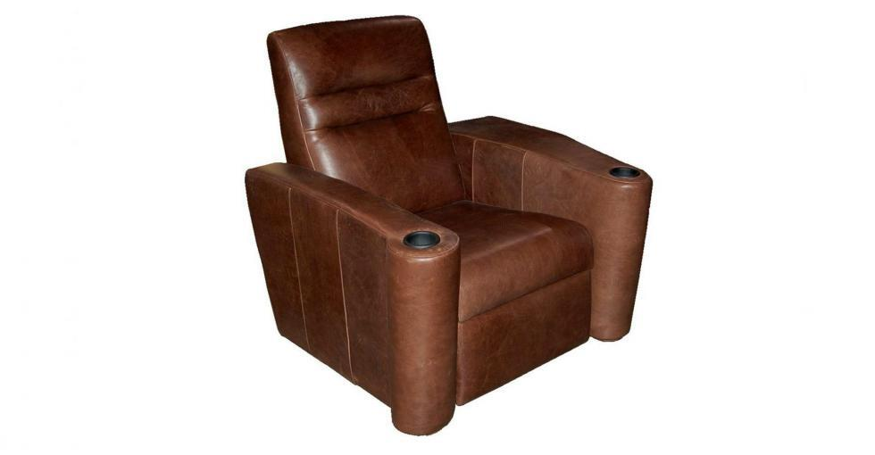 Brown Leather Single Theatre Seating