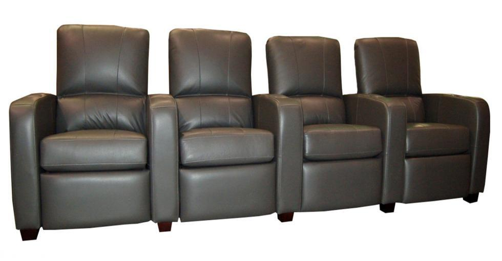 Leather 4 Seater Theatre Seating