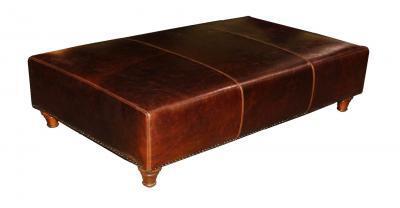 Bianca Leather Ottoman Footstool
