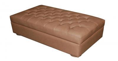 Henry Leather Tufted Ottoman