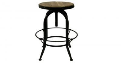 wood top metal frame counter stool