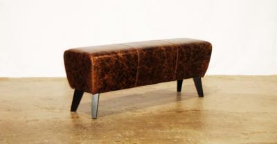Brown Pommel Horse Leather Bench