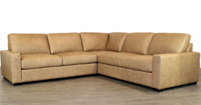 Brown Manhattan Leather Sectional