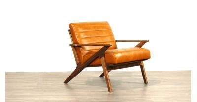 Wood Leather Chair