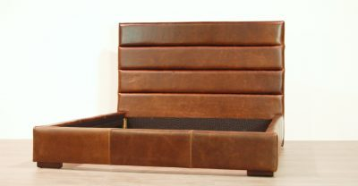 channel leather bed