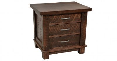 3 drawer wood nightstand