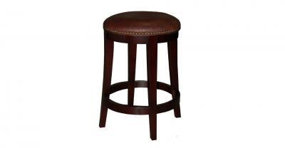 wood frame leather bar counter stool