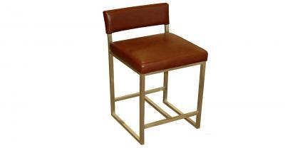 metal frame leather counter stool