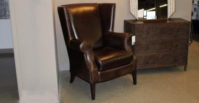 leather chair with studs clearance