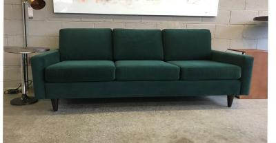 green fabric sofa clearance
